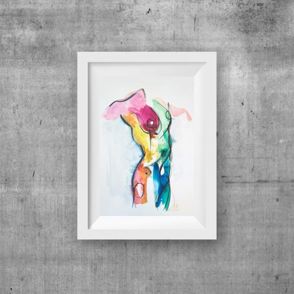 modern art print watercolour unique