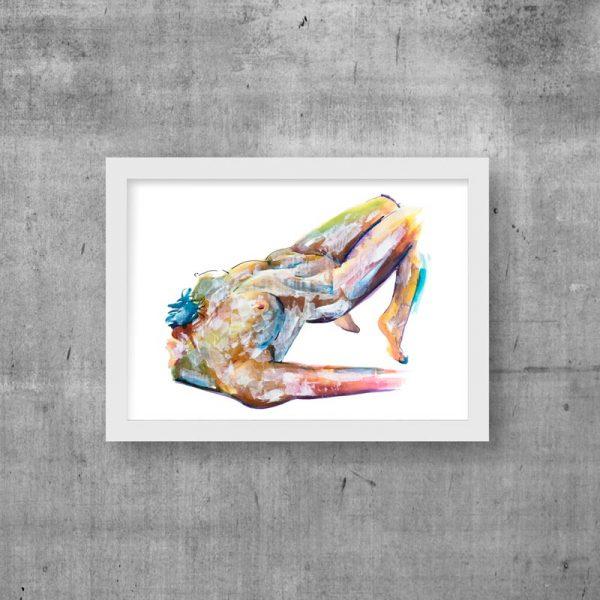 nude art print beautiful modern
