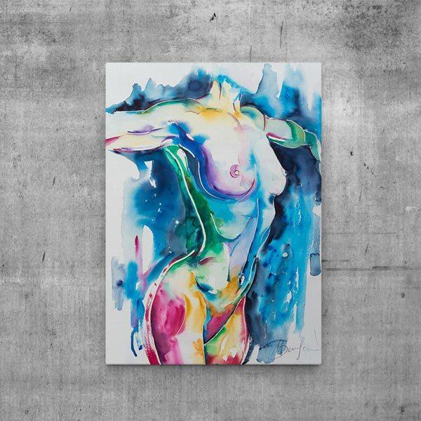 art print canvas nude