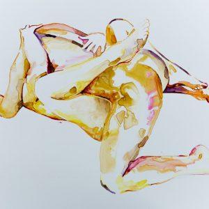 nude watercolour contemporary art