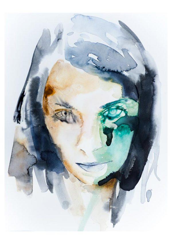 portrait modern art buy print
