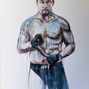robert whittaker ufc painting modern art