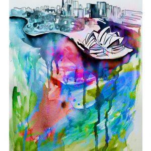 sydney opera house print beautiful colorful
