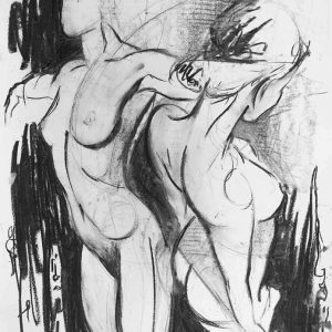 drawing on sale charcoal nudes original unique