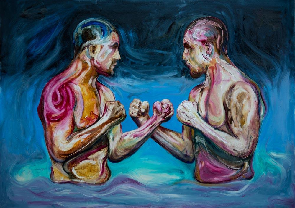 modern art contemporary oil artist australia