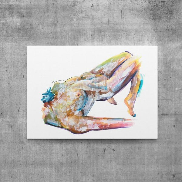canvas print art nude