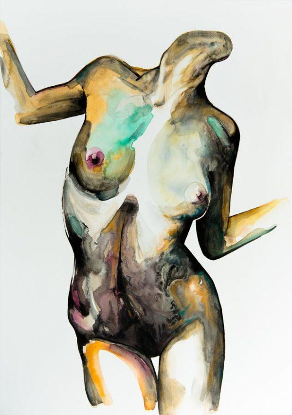 original unique painting emerging artist art nude